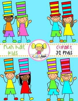 Hat Kids Clipart