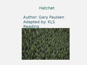 Hatchet Adapted Powerpoint - 20 Slides reviewing each chap