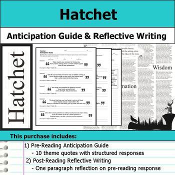 Hatchet - Anticipation Guide & Reflection