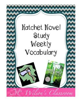 Hatchet Novel Study Weekly Vocabulary Activity with Answer Key