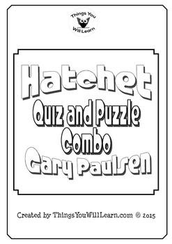 Hatchet Quiz, Test, and Crossword Puzzle Bundle (Gary Paulsen)