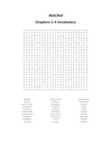 Hatchet Vocabulary Word Search for Chapters 1-4