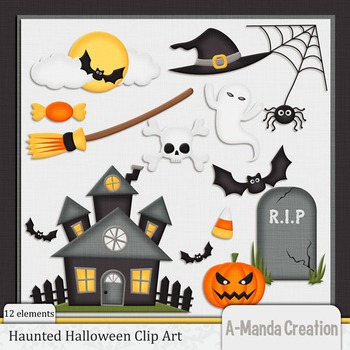 Haunted Halloween Clip Art