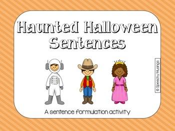 Haunted Halloween Sentences for Sentence Formulation