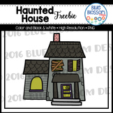 Haunted House Clipart Freebie