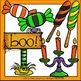 Haunted House Halloween Clip Art Set - Chirp Graphics