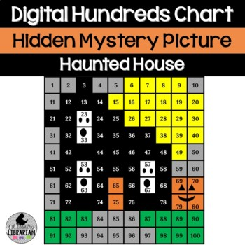 Haunted House Hundreds Chart Picture Activity for Hallowee