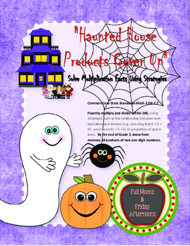 Haunted House Product Cover Up Solve Multiplication Facts