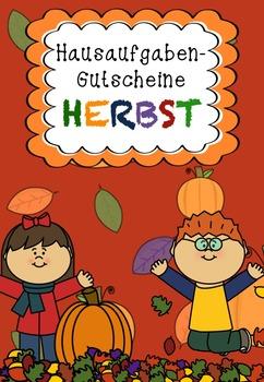 Hausaufgaben-Gutscheine HERBST
