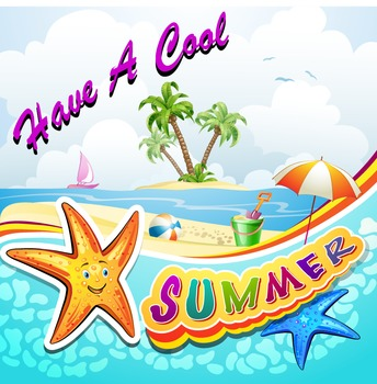 Have A Cool Summer Large Gift Tag End of Year FREE