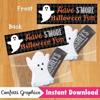 Have S'more Halloween Fun Treat Bag / Ziplock Topper Marsh