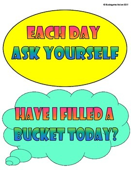 Have You Filled Your Bucket Today? Behavior Chart Ladder