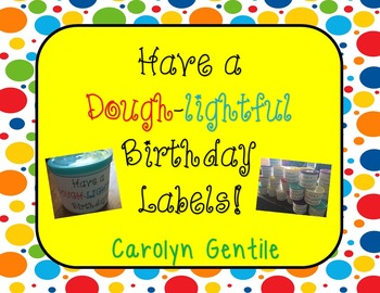 Have a Dough-Lightful Birthday Labels