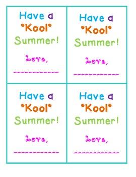 Have a Kool Summer Tag