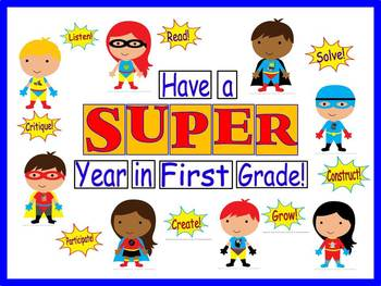 Have a SUPER Year in Your Grade Bulletin Board Kit
