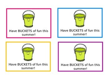 Have buckets of fun this summer!