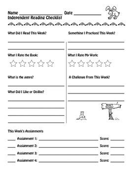 Independent Reading and Writing Student Checklists