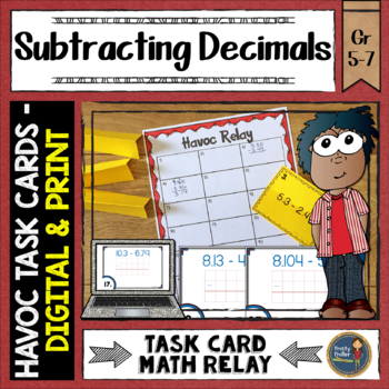 Subtracting Decimals Havoc Relay