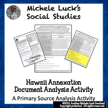 Hawaii Annex Joint Resolution Document Analysis Activity U