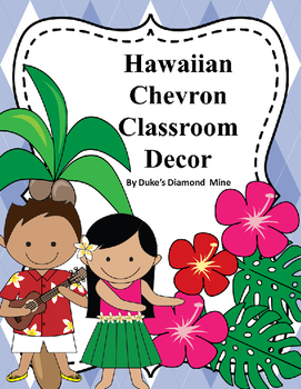 Hawaii Classroom Decor with blue plaid