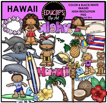 Hawaii Clip Art Bundle