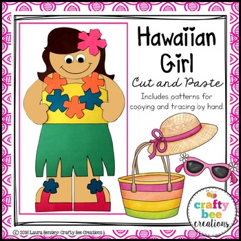 Hawaii Girl Cut and Paste