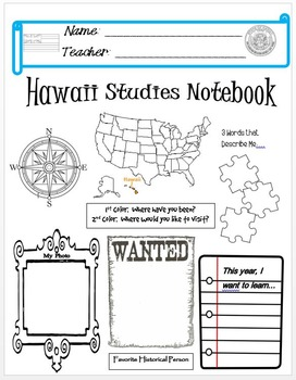 Hawaii Notebook Cover