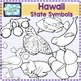 Hawaii state symbols clipart