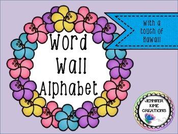 Hawaii/Luau Word Wall Alphabet