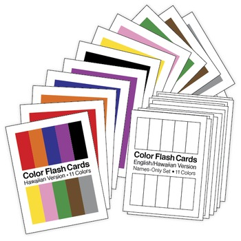 Hawaiian Color Flash Cards