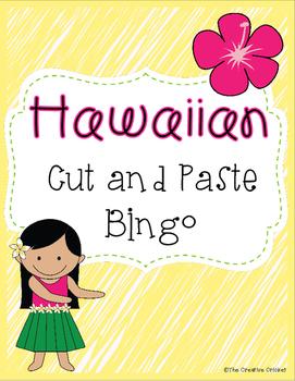 Hawaiian Cut and Paste Bingo