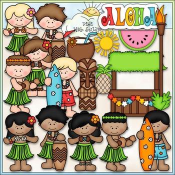 Hawaiian Luau Clip Art - Hawaii Vacation Clip Art - CU Cli