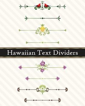 Hawaiian Page Text Dividers