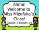 {Editable} Hawaiian Style Welcome Sign!