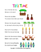 Hawaiian Theme Counting Rhyme and Matching Tasks