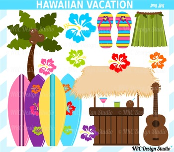 Hawaiian Vacation Clip Art