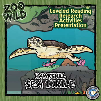Hawksbill Sea Turtle -- 10 Resources -- Coloring Pages, Re