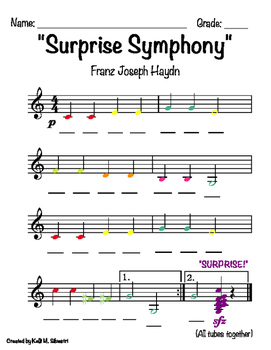"""Surprise Symphony"" By Haydn for Boomwhackers"