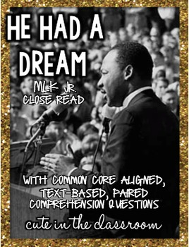 He Had a Dream - Martin Luther King Jr. Nonfiction Reading