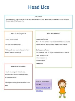 Head Lice Fact Sheet