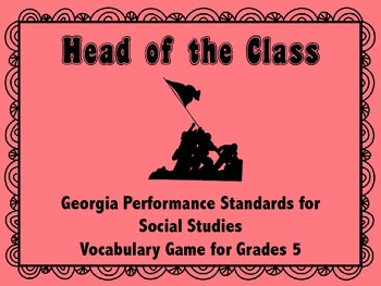 Head of the Class: Social Studies Vocabulary Card Game for