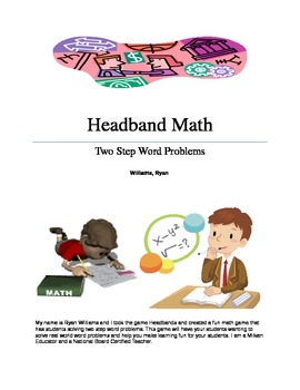 Headband Math: Two Step Word Problems Made Fun!