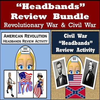 Headbands Review Games - 96 American Revolution & 96 Civil