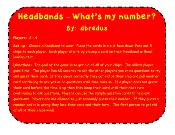 Headbands-what's my number?