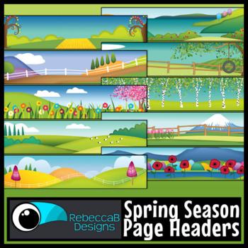 Spring Headers Clip Art