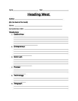 Heading West - Leveled Reader - Social Studies
