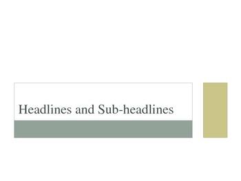 Headlines and Subheadlines PPT