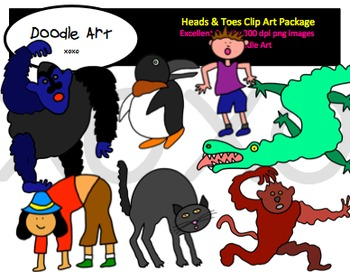 Heads & Toes Clipart Pack