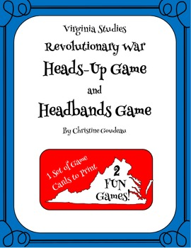 Heads Up & Headbands Virginia Studies Review Games - Revol