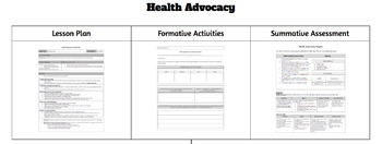 Health Advocacy Lesson with Activities and Assessment